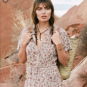 NWT spell and the gypsy jasmine flutter  dress